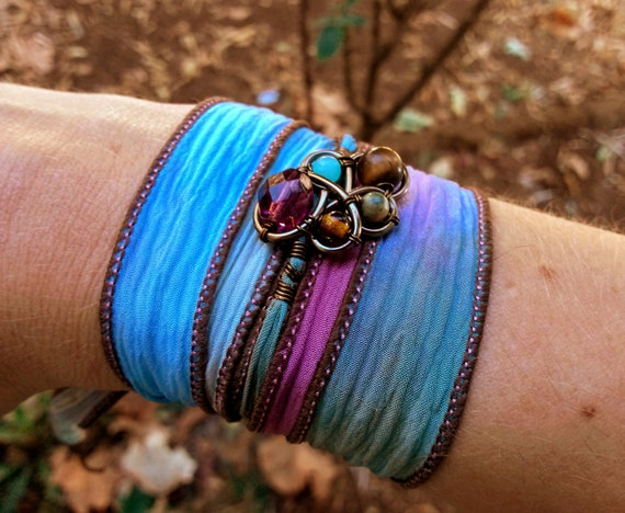 Multicolored Bohemian Wrap Bracelet or Headpiece
