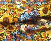 Cotton fabric: My Sunshine Flower Garden from In the Beginning by Kathy Deggendorfer - 1/2  YD - FabricFascination