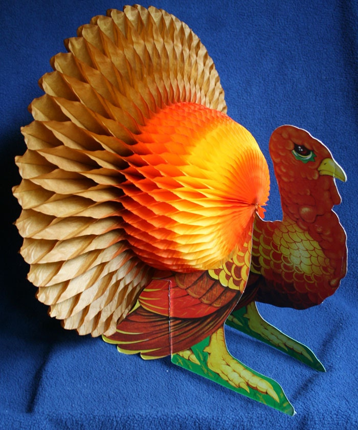 Thanksgiving table decoration turkey photograph tissue