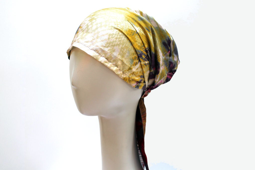 Boho Head Scarf Light Italian Cotton Hair scarf by JEMIMAJACKMAN Cotton Head Scarves Women