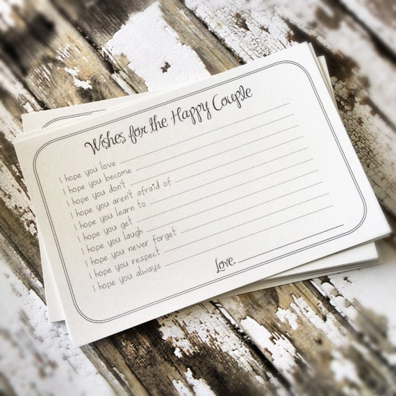 Wishes for the Happy Couple Cards - Unique Bridal Shower Activity Game or Wedding Guest Book Alternative - Set of 200