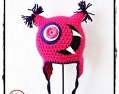 Crochet Hat  Big Mouth F