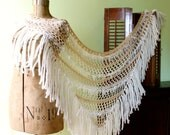 Wedding Shawl Bridal Accessory white ivory natural - MollysPurl