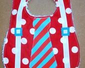 Suspenders Christmas Tie Polka Dot Bib - torilynn817