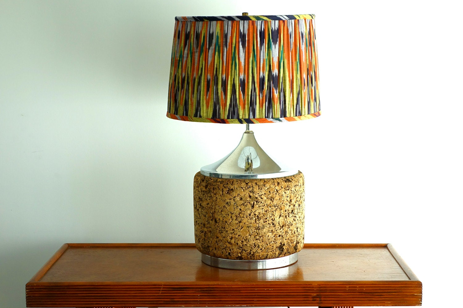 Table lamp vintage style - Retro Desk Lamps On Vintage Cork And Chrome Table Lamp Desk Light Retro Lighting