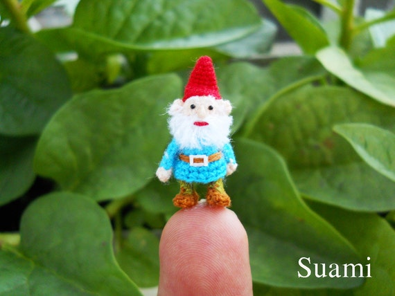 Micro Gnome Doll - Tiny Miniature Crocheted Gnomes - Made To Order