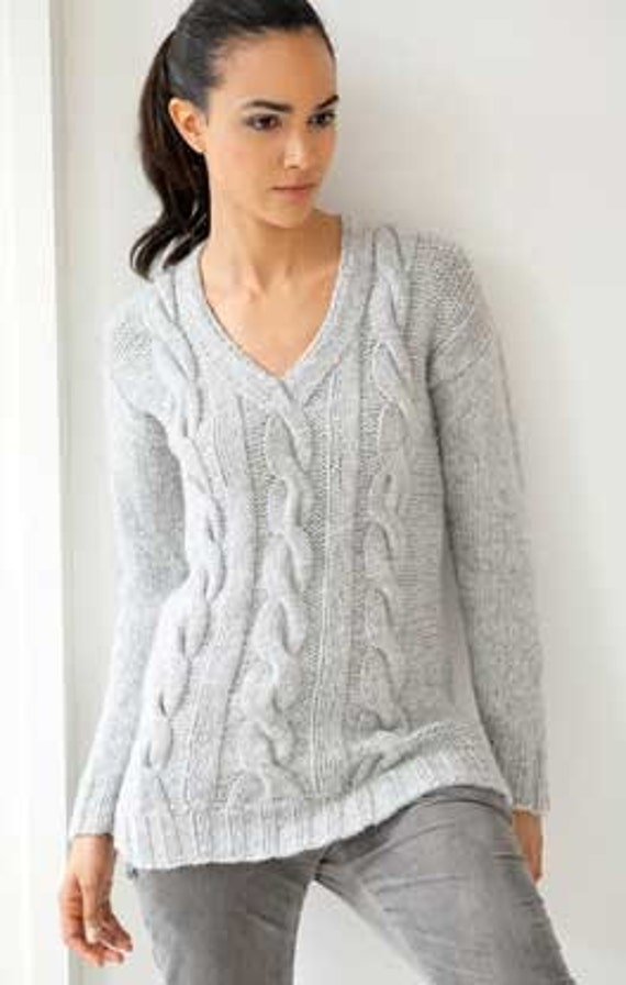 KNITTING NECK PATTERN SWEATER V 1000 Free Patterns