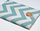Nook Tablet Cover, Nook Color Cover, Nook Tablet Case, Nook Color Case, Nook Cover - Light Blue Chevron
