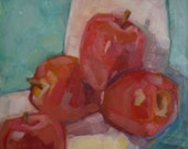 """New Oil Painting """"Wedged"""" 8"""" x 8"""" oil on gessoboard"""