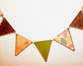 AUTUMN BANNER/ fall banner garland/ harvest decor/ fall wedding garland/ penant bunting - BethsBannerBoutique