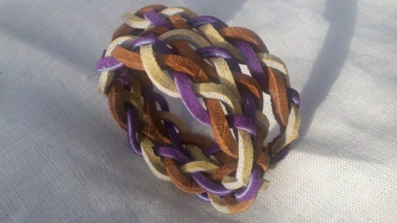 Coronatus. Braided Leather Multi-Wrap Bracelet. Multi Colors Available