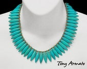 TURQUOISE DAGGER Statement Necklace, With Free Shipping