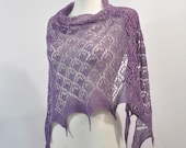 Heather hand knitted lace shawl, stole, scarf, - aboutCRAFTS
