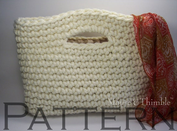 Basket Handbag & Flower - Easy Crochet PATTERN - PDF 1410