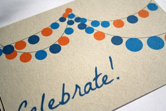 Party invitations new year's eve eco-friendly recycled paper