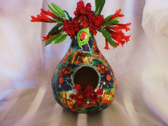 Gourd Art Birdhouses Birds, Hummingbirds & Flowers