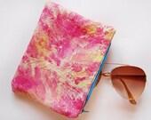 Pink sky - hand dyed zipper pouch /murMur