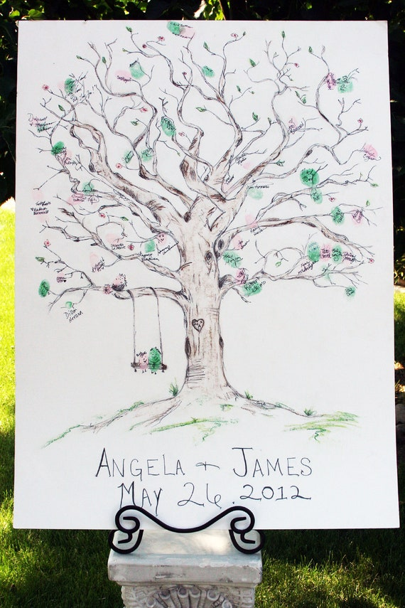 Wedding Guestbook Tree (Color)