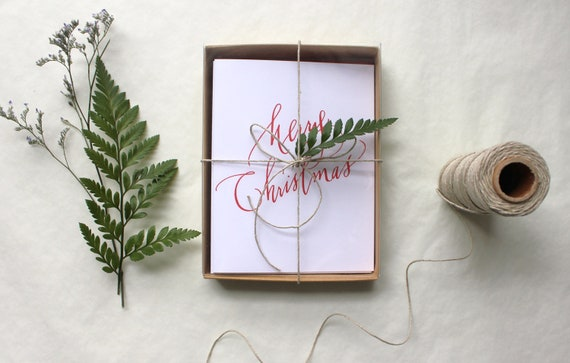 Set of 20 // CHRISTMAS CARDS // Ready to Ship