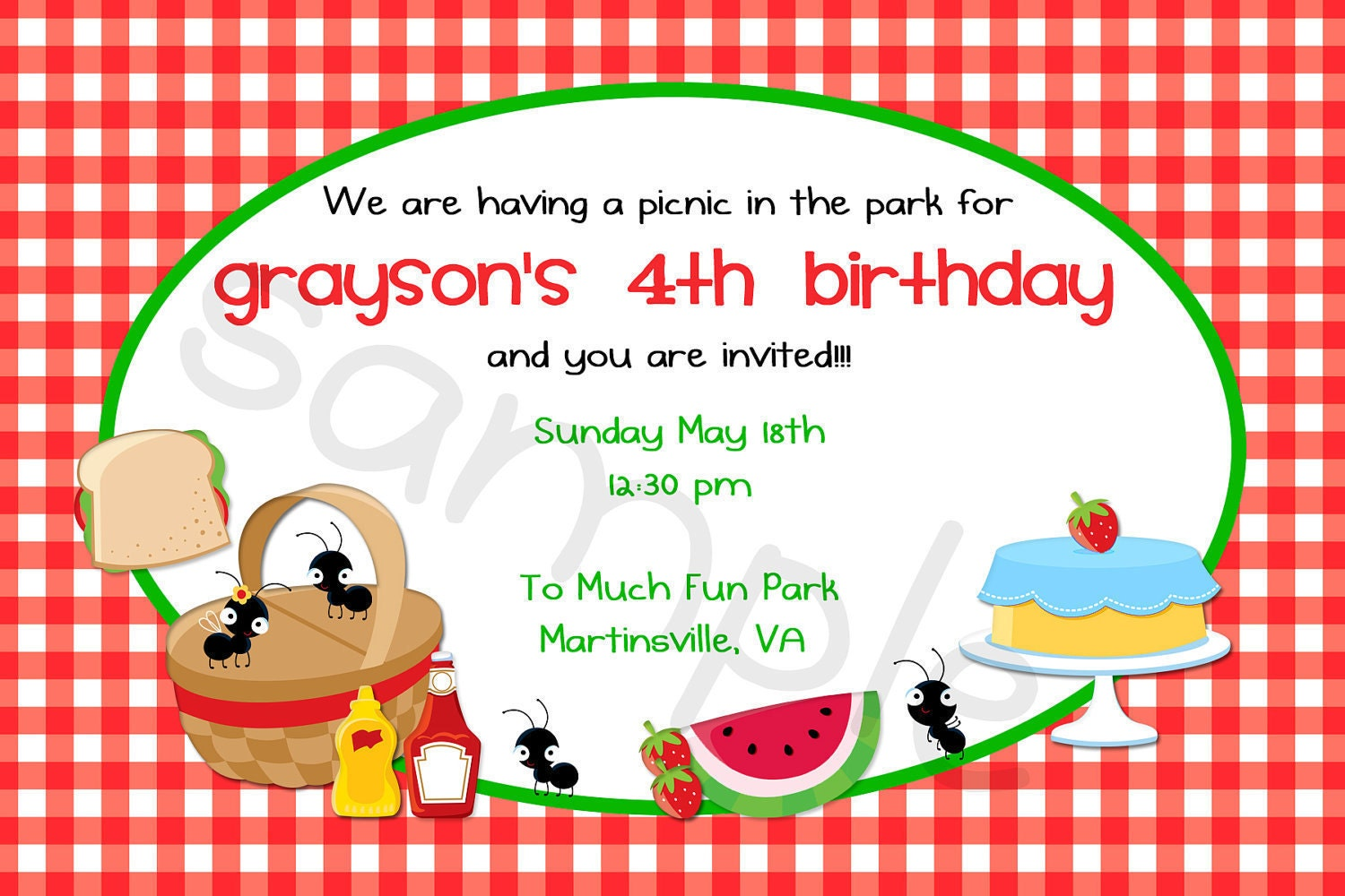 picnic invitation sample.