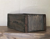 Rustic Modern Home Reclaimed Wood Box Inlay Caddy Fall Decor - TheHoneyShack