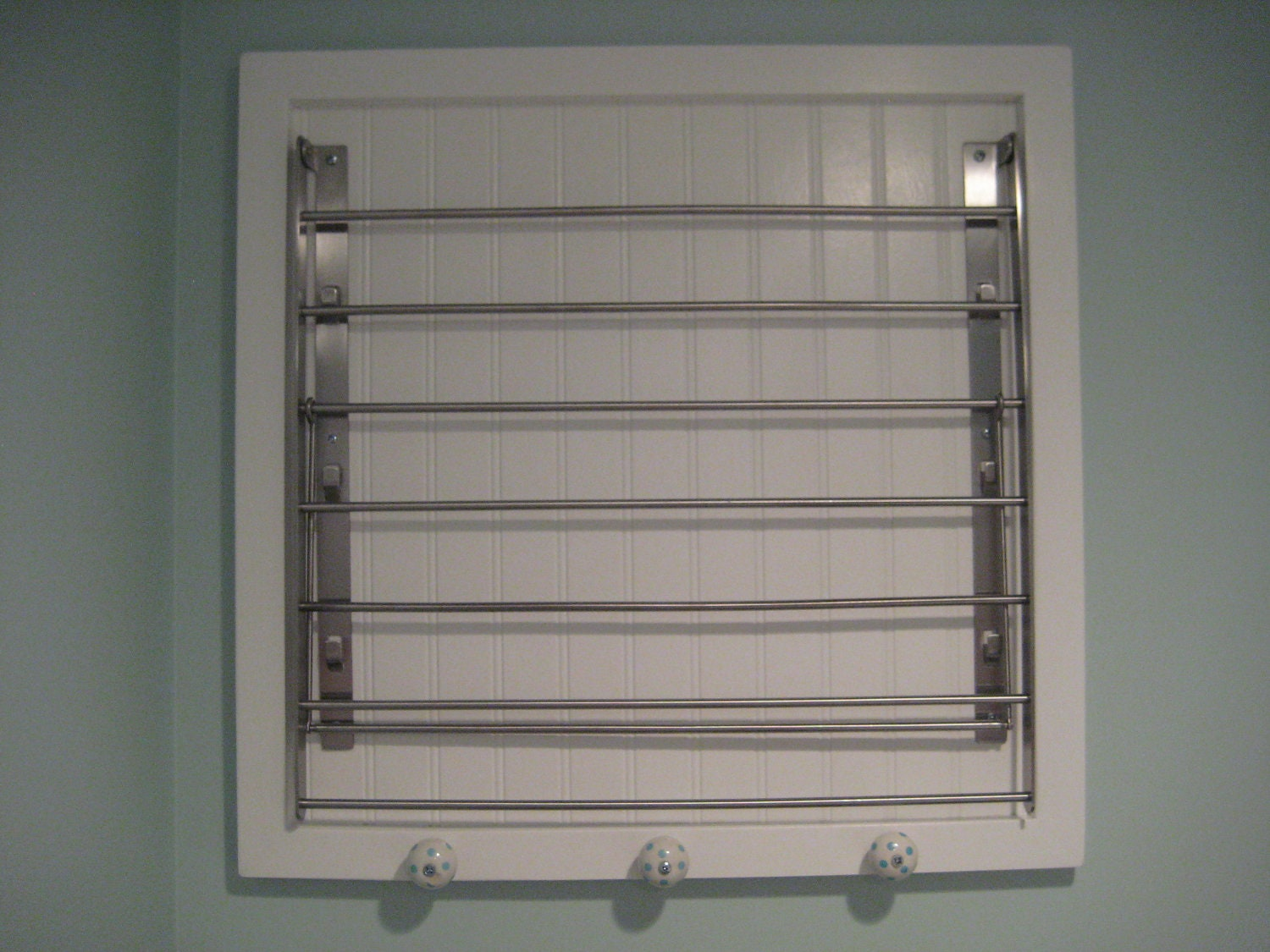 Wonderful ETSY wall mounted laundry drying rack by OakeeBear