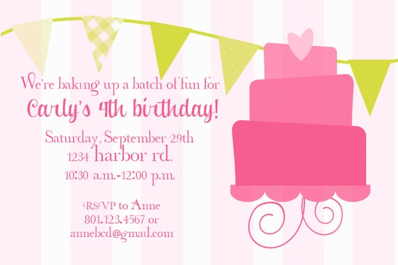 Custom Design Birthday Invitation