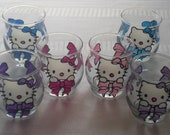25% off all Hand Painted Lots of Bows Hello Kitty Votive Candle Holder