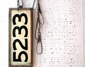 vintage house number - copper back & sides - heavy weight - very modern farmhouse cool - tribute212