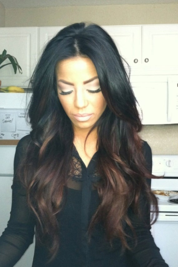 Black Hair with Ombre