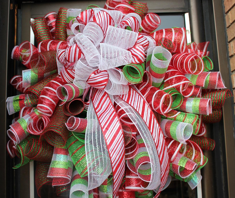 Deco Mesh Christmas Tree Wreath: Deco Mesh Wreaths How To Make Them.. On Pinterest