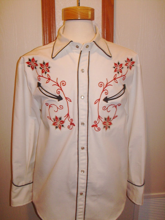 Men's custom-made western shirt Size L