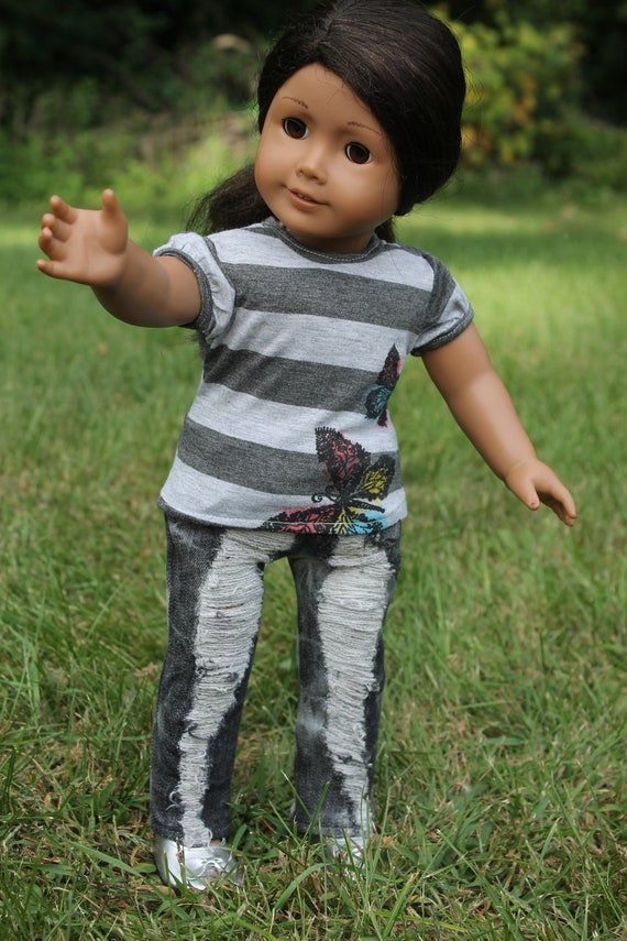 American Girl Doll Jeans and T-shirt Outfit