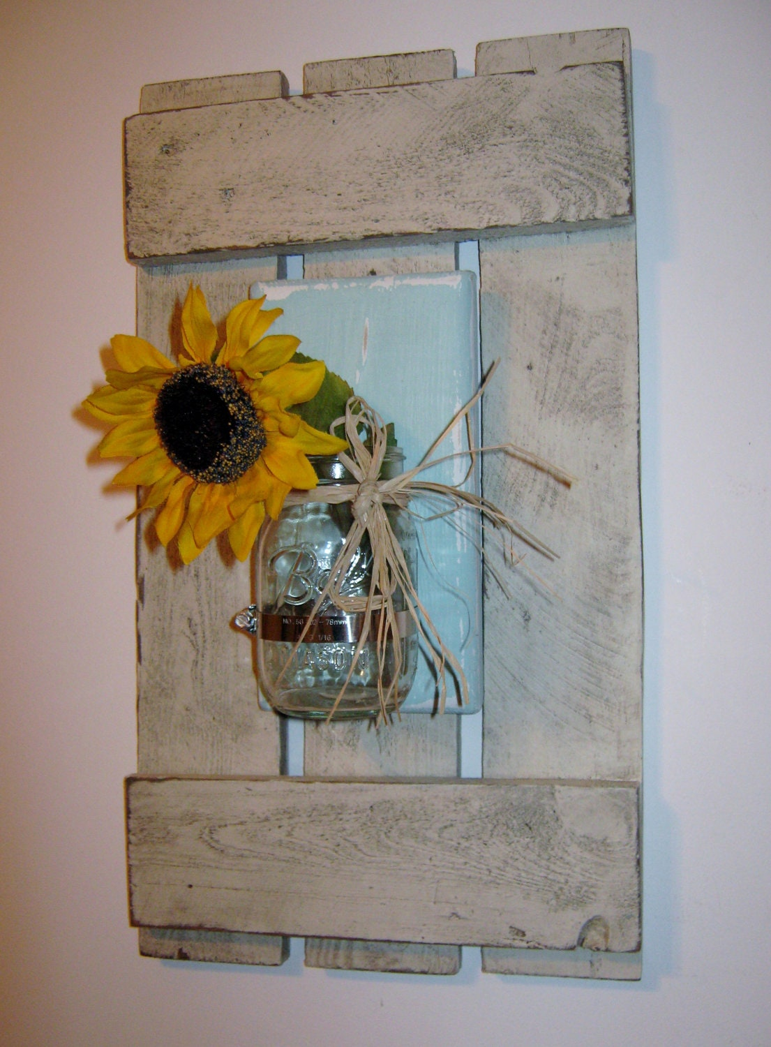 Framed Mason Jar Coastal Decor Nautial by PineTerraceTreasures