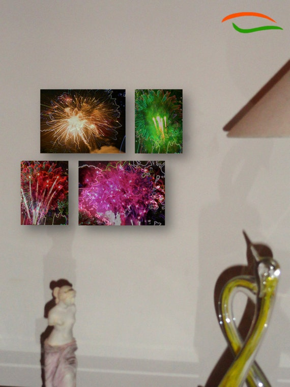Original Painting Set, Photo Prints, Photo Art, Wall Decor. Diwali Dreams C1- Two 4 x 6in, Two 8x 12in. Decor idea. Indian, ethnic. Artikrti