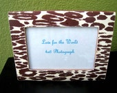 Cheetah Animal Print Decoupage Wooden Picture Frame - For a 4x6 Photograph - Lovefortheworld
