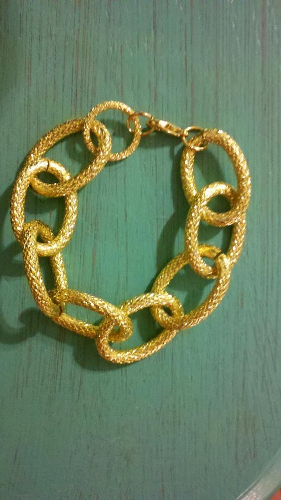 Large Gold Chain Bracelet