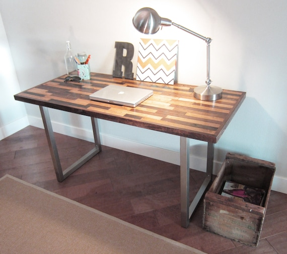 54x28 Contemporary Industrial Desk (Remnants- Blonde Lager)