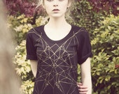 Hand Painted golden geometric dress - WeAreHairyPeople