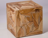 Picasso Cube Table in Teak Wood FREE SHIPPING - BareDecor