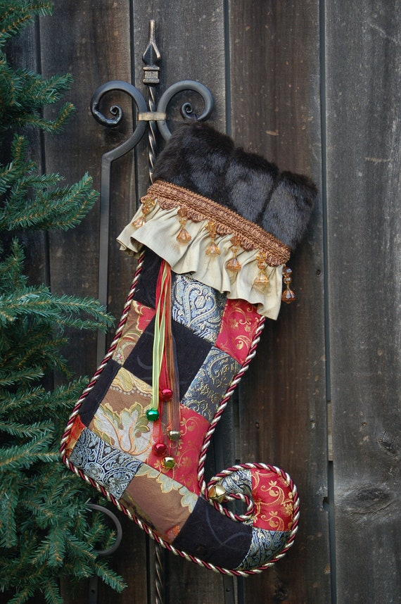 Harlequin Christmas stocking 1012