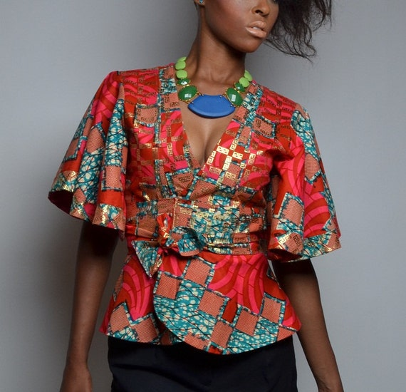 Leila Maingu Womenu0026#39;s African Prints Jackets