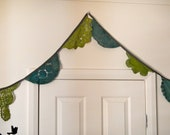 Green Vintage doily bunting