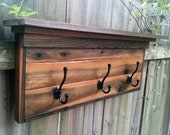 Cedar Coat Rack with 3 Hooks/ Rustic / Weathered / Wall Mounted / Handmade - CedarOaks
