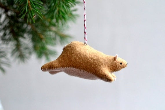 Flying Bear Ornament