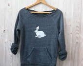 Oh My Rabbit Sweatshirt, Rabbit Sweater, Easter Gift, Bunny Shirt, S,M,L,XL - nicandthenewfie