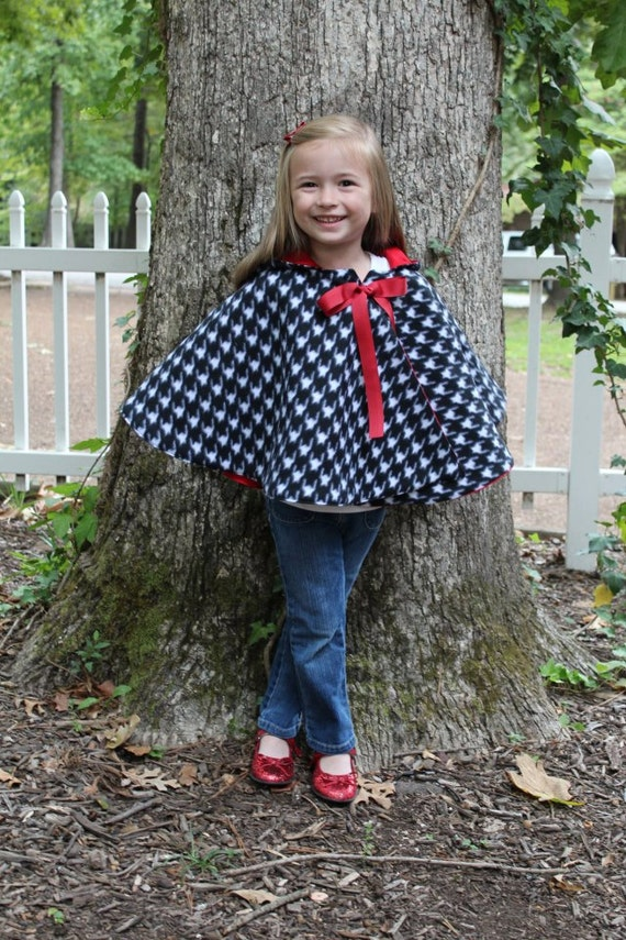 Cozy Hooded Cape for kids sewing pattern - sizes 3 months - 10 years, cape tutorial, PDF sewing PATTERN, how to sew