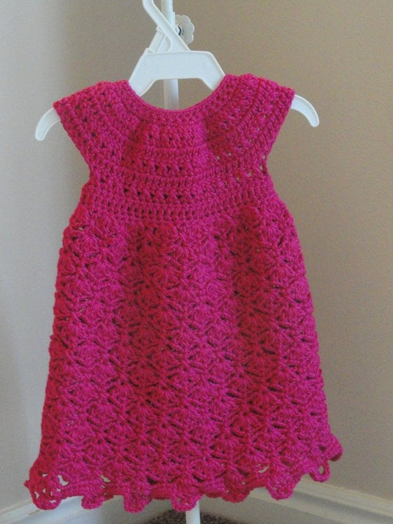 Elegant Felicity Dress Crochet Pattern Sizes Newborn, 0-3 Months and 3-6 Months