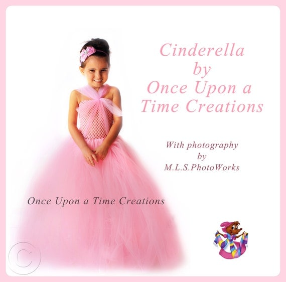 Pink Cinderella Inspired Princess Tutu Dress - Birthday Outfit, Photo Prop, Halloween Costume - 12M 2T 3T 4T 5T - Disney Cinderella Inspired