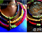 Zamunda three row Ankara neck piece